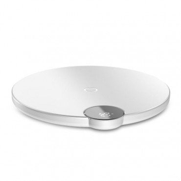 LED Display Wireless Charger - White - Grey